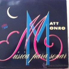 Discos de vinilo: LP DOBLE-MATT MONRO-MUSICA PARA SOÑAR. Lote 38674837