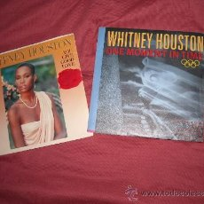 Discos de vinilo: WHITNEY HOUSTON LOTE 2 SINGLES VER FOTO ADICIONAL. Lote 38669378