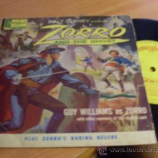 Discos de vinilo: GUY WILLIAMS (ZORRO AND THE GHOST/ ZORRO'S DARING RESCUE) 45 RPM DISNEYLAND AUSTRALIA (EP9) . Lote 38679646