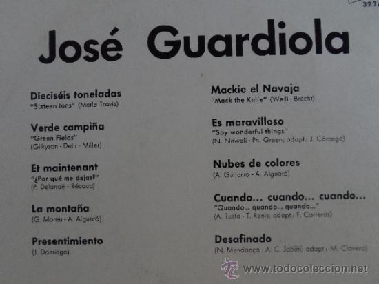 Discos de vinilo: *** JOSE GUARDIOLA - ÉXITOS - LP AÑO 1972 - EDICIÓN ESPECIAL CIRCULO DE LECTORES - LEER DESCRIPCIÓN - Foto 2 - 38697133