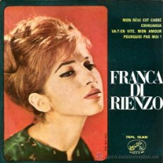 Discos de vinilo: EP FRANCA DI RIENZO : MON REVE EST CASSE . Lote 38683327