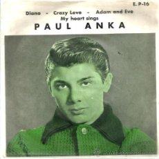 Discos de vinilo: EP PAUL ANKA : DIANA ( EDICION VENEZUELA ) . Lote 38683412