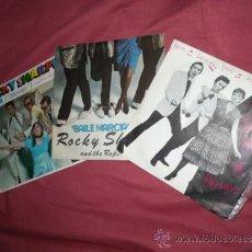 Discos de vinilo: ROCKY SHARPE AND THE REPLAYS LOTE 3 SINGLES ORIGINALES SPA VER FOTO ADICIONAL. Lote 38690232