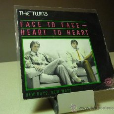 Discos de vinilo: THE TWINS FACE TO FACE HEART TO HEART SINGLE. Lote 38695259