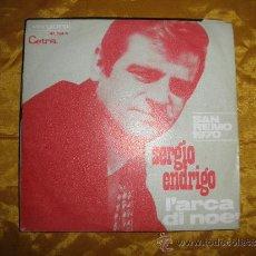Discos de vinilo: SERGIO ENDRIGO. L´ARCA DI NOE / DALL´AMERICA. SAN REMO 1970. CETRA/ VERGARA. Lote 38702284