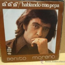 Discos de vinilo: BENITO MORENO. RA RA RA. SINGLE / MOVIE PLAY - 1976. BUENA CALIDAD. ***/***. Lote 38711855