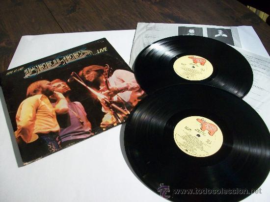 BEE GEES - HERE AT LAST LIVE / DOBLE LP - 21 TEMAS, ORIG. USA EDITION !!!!!!!!!!! (Música - Discos - LP Vinilo - Pop - Rock - Extranjero de los 70)