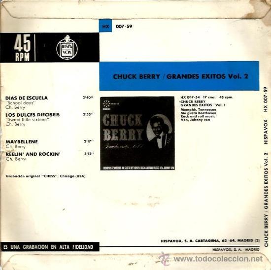 Discos de vinilo: EP CHUCK BERRY SCHOOL DAYS + 3 - Foto 2 - 38709466