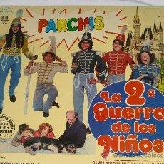 Discos de vinilo: PARCHIS-LA SEGUNDA GUERRA DE LOS NIÑOS(ESTILO-REGALIZ-CARMEN Y ANTONIO-ENRIQUE Y ANA-GRUPO NINS). Lote 145119562