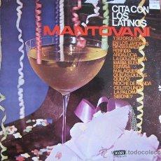 Discos de vinilo: LP - MANTOVANI Y SU ORQUESTA - CITA CON LOS LATINOS (SPAIN, DECCA RECORDS 1981). Lote 38714554