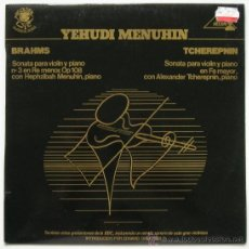 Discos de vinilo: YEHUDI MENUHIN: BRAHMS, TCHEREPNIN. THE GOLDEN EYE, DOCUMENTO SONORO BBC 1981. SIN ESCUCHAR. Lote 38718162