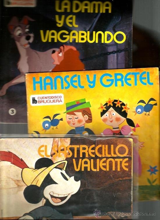 Discos de vinilo: 5 EP´S CUENTODISCO BRUGUERA: PINOCHO, PETER PAN, EL SASTRECILLO, HANSEL Y GRETEL, LA DAMA Y VAGABUND - Foto 2 - 38720810