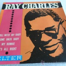 Discos de vinilo: RAY CHARLES - ROLL WITH MY BABY + 3 EP 1963. Lote 38722778
