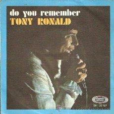 Discos de vinilo: TONY RONALD - DO YOU REMEMBER - 1968. Lote 38725543