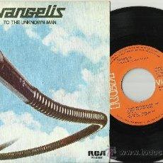 Discos de vinilo: VANGELIS SINGLE TO THE UNKNOWN MAN ESPAÑA 1978. Lote 38727279