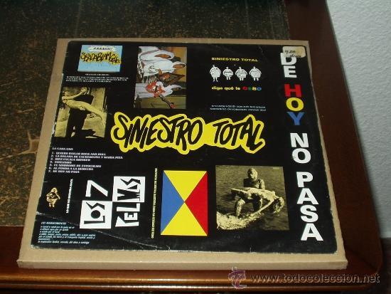SINIESTRO TOTAL LP DE HOY NO PASA (Música - Discos - LP Vinilo - Punk - Hard Core)