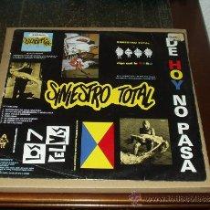 Discos de vinil: SINIESTRO TOTAL LP DE HOY NO PASA. Lote 199775230