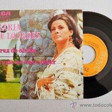 Disques de vinyle: MARIA DE LOURDES-CRUZ DE OLVIDO-SE QUE ME VAS A DEJAR-¡¡NUEVO!!-SINGLE-1974-RCA-SPÑ. Lote 38731741