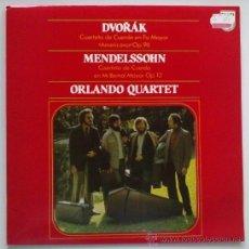 Discos de vinilo: ORLANDO QUARTET: DVORAK, MENDELSSHON. PHILIPS 1982. SIN ESCUCHAR. Lote 38732806