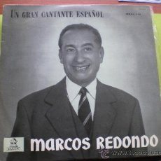 Discos de vinilo: MARCOS REDONDO. UN GRAN CANTANTE ESPAÑOL, DISCOS ODEON 1958 PEPETO. Lote 38736545