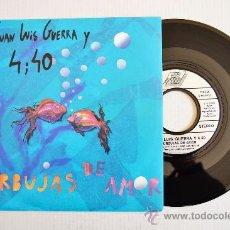 Discos de vinilo: JUAN LUIS GUERRA Y 4,40-BURBUJAS DE AMOR-¡¡NUEVO!!-SINGLE-1990-KAREN-ALEMANIA. Lote 278291958