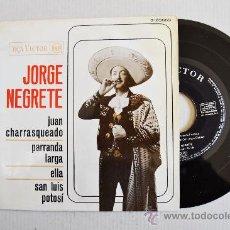 Discos de vinilo: JORGE NEGRETE-JUAN CHARRASQUEADO…-¡¡NUEVO!!-EP-1963-RCA-SPÑ. Lote 38751135