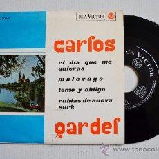 Discos de vinilo: CARLOS GARDEL-EL DIA QUE ME QUIERAS…-¡¡NUEVO!!-EP-1965-RCA-SPÑ. Lote 38753723