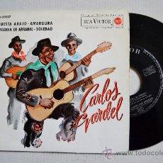 Discos de vinilo: CARLOS GARDEL-CUESTA ABAJO…-¡¡NUEVO!!-EP-1962-RCA-SPÑ. Lote 38753737