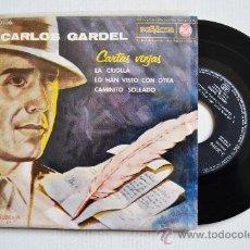 Discos de vinilo: CARLOS GARDEL-CARTAS VIEJAS…-¡¡NUEVO!!-EP-1962-RCA-SPÑ. Lote 38753811