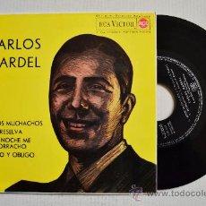 Discos de vinilo: CARLOS GARDEL-ADIOS. MUCHACHOS…-¡¡NUEVO!!-EP-1963-RCA-SPÑ. Lote 38753899