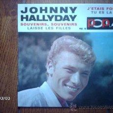 Discos de vinilo: JOHNNY HALLYDAY - SOUVENIRS, SOUVENIRS + 3. Lote 38754793