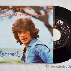 Discos de vinilo: EMMANUEL-EL DIA QUE PUEDAS-QUIERO DORMIR CANSADO-¡¡NUEVO!!-SINGLE-1980-RCA-MEXICO. Lote 38757128