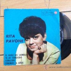 Discos de vinilo: RITA PAVONE - EP ESPAÑOL DE 1963. Lote 38757857