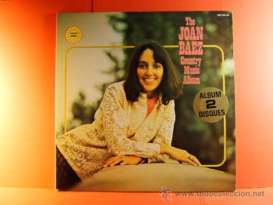 THE JOAN BAEZ COUNTRY MUSIC ALBUM - VANGUARD - TWOFERS - MUSIDISC EUROPE -FRANCIA - 1979 - 2 LPS ... (Música - Discos - LP Vinilo - Cantautores Extranjeros)