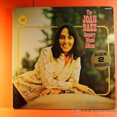 Discos de vinilo: THE JOAN BAEZ COUNTRY MUSIC ALBUM - VANGUARD - TWOFERS - MUSIDISC EUROPE -FRANCIA - 1979 - 2 LPS .... Lote 38763131