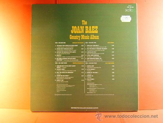 Discos de vinilo: THE JOAN BAEZ COUNTRY MUSIC ALBUM - VANGUARD - TWOFERS - MUSIDISC EUROPE -FRANCIA - 1979 - 2 LPS ... - Foto 3 - 38763131