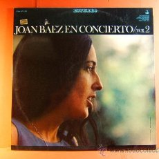 Discos de vinilo: JOAN BAEZ EN CONCIERTO VOL.2 - VANGUARD USA HISPAVOX - JULES HALFANT - FRED POWLEDGE - 1967 - LP .... Lote 38764000