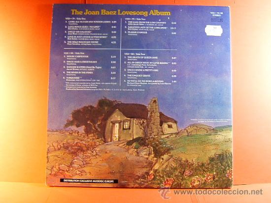Discos de vinilo: THE JOAN BAEZ LOVESONG ALBUM - VANGUARD TWOFERS - MUSIDISC - EUROPA - FRANCIA - 1980 - 2 LPS ... - Foto 3 - 38764574