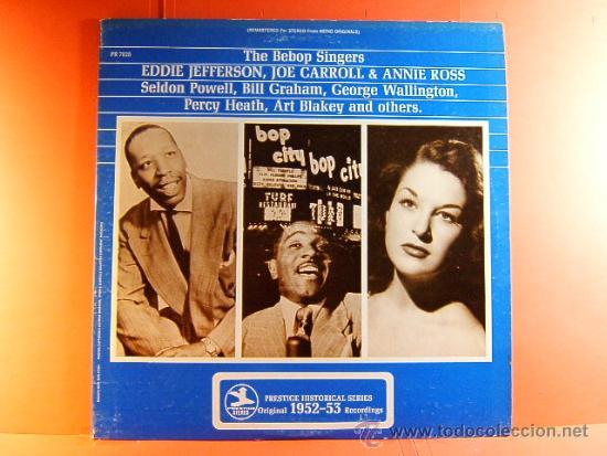 THE BEBOP SINGERS- RECORDED 1953- EDDIE JEFFERSON ..- PRESTIGE WASHINGTON ORIGINAL USA- 1970- LP ... (Música - Discos de Vinilo - EPs - Jazz, Jazz-Rock, Blues y R&B)