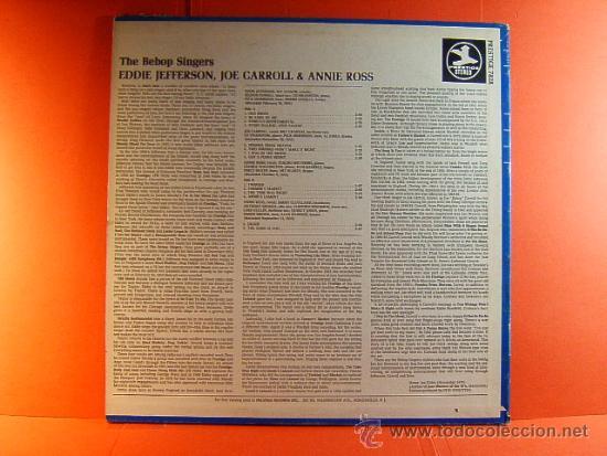 Discos de vinilo: THE BEBOP SINGERS- RECORDED 1953- EDDIE JEFFERSON ..- PRESTIGE WASHINGTON ORIGINAL USA- 1970- LP ... - Foto 2 - 38766185
