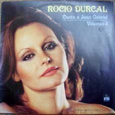 Discos de vinilo: ROCIO DURCAL - CANTA A JUAN GRABIEL - VOLUMEN 3 . Lote 38769123
