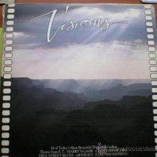 Discos de vinilo: VISIONS /18 TEMAS DE BANDAS SONORAS DE EXITO LP 83. Lote 107879332