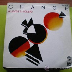 Discos de vinilo: CHANGE - A LOVER'S HOLIDAY / THE END -HISPAVOX 45-1979. Lote 179953420