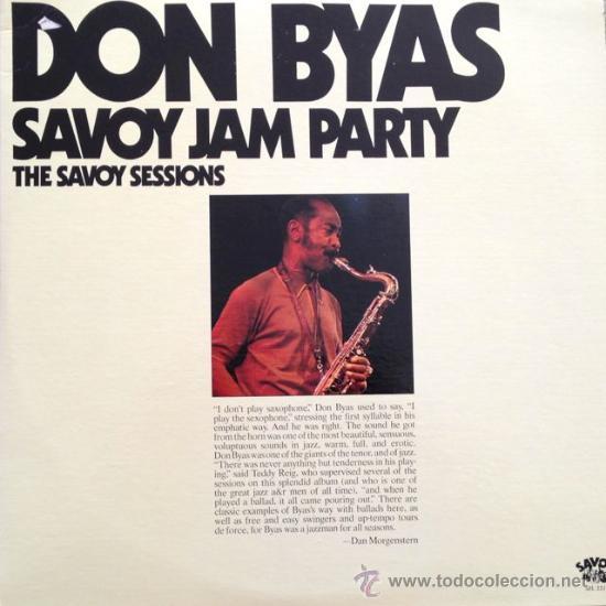 DON BYAS-SAVOY JAM PARTY- THE SAVOY SESSIONS-DISCO DOBLE - IMPORTACIÓN (Música - Discos - LP Vinilo - Jazz, Jazz-Rock, Blues y R&B)