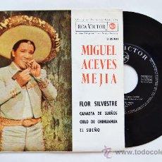 Discos de vinilo: MIGUEL ACEVES MEJIA-FLOR SILVESTRE…-¡¡NUEVO!!-EP-1962-RCA-SPÑ. Lote 38780178