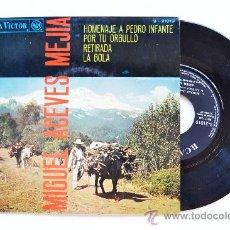 Discos de vinilo: MIGUEL ACEVES MEJIA-HOMENAJE A PEDRO INFANTE…-¡¡NUEVO!!-EP-1967-RCA-SPÑ. Lote 38780433