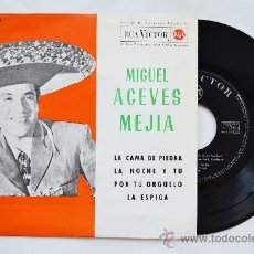 Discos de vinilo: MIGUEL ACEVES MEJIA-LA CAMA DE PIEDRA…-¡¡NUEVO!!-EP-1962-RCA-SPÑ. Lote 38780474