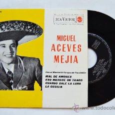 Discos de vinilo: MIGUEL ACEVES MEJIA-MAL DE AMORES…-¡¡NUEVO!!-EP-1962-RCA-SPÑ. Lote 38780513