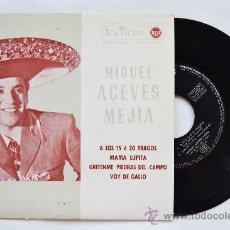 Discos de vinilo: MIGUEL ACEVES MEJIA-A LOS 15 O 20 TRAGOS…-¡¡NUEVO!!-EP-1962-RCA-SPÑ. Lote 38780544