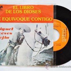 Disques de vinyle: MIGUEL ACEVES MEJIA-EL LIBRO DE LOS DIOSES-ME EQUIVOQUE CONTIGO-¡¡NUEVO!!-SINGLE-1978-RCA-MEXICO. Lote 38780585